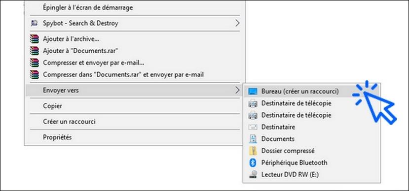 Creer Un Raccourci Sur Le Bureau Windows 7 8 Ou 10